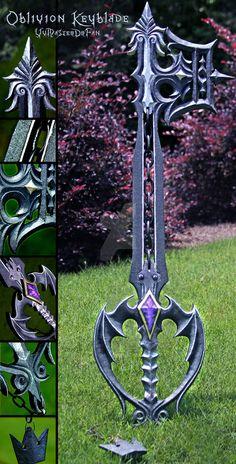 Oblivion Keyblade v2.0 by vvmasterdrfan.deviantart.com on @DeviantArt