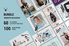 MINI BUNDLE - ANIMATED Insta Pack by SilverStag on @creativemarket
