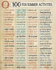 100 summer fun activities - Buscar con Google