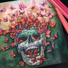 The Butterfly Skull, Fantomorphia, Kerby Rosanes, colored by @gundiwr