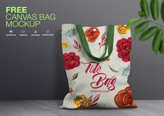 Mockups are great resource for designers to showcase their work to their clients or buyers. We created this stunning high quality visual of canvas bag for free. Bag Mockup, Free Canvas, Colorful Backgrounds, Your Design, Designers, Reusable Tote Bags, Pattern, Patterns, Model