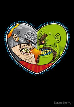 """""""Mutant Vs Cyborg: A Love Story - card sized"""" Greeting Cards & Postcards by Simon Sherry"""