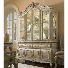 AICO Lavelle Blanc China Cabinet. A little over the top, but beautiful.