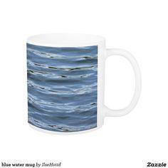 blue water mug