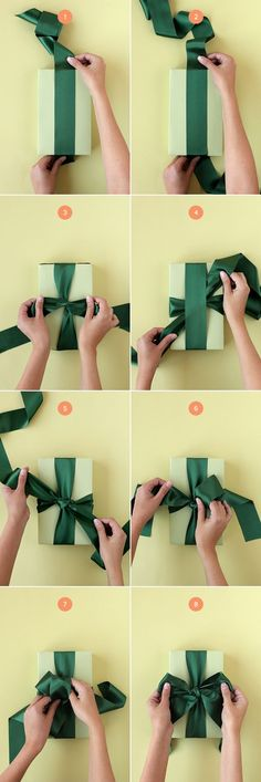 Step by step instructions for tying a bow that even I can understand via  Minted