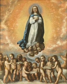 rancisco Zurbarán (1598-1664), The Immaculate Conception. Oil on canvas, 194.3 x 157 cm. 1656. Madrid, Museo Nacional del Prado.  Another important focus of production for images on this subject was Madrid, rep