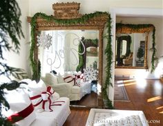 Christmas Decorating Idea – WRITE WITH GLITTER on a Mirror!!