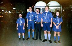 Delegacion que participo del Campamento Internacional de Grecia 1990.