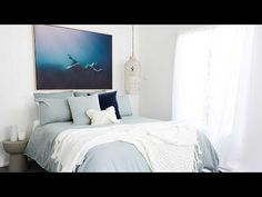 This week's #stylinghacks video reveals not ONE but THREE bedrooms at The Beach Shack - perfect for when two families decide to stay! Bon wanted to create a master suite and guest bedroom which felt like underwater sanctuaries (omg wait til you see the artwork!!) and a fun coastal kids ro