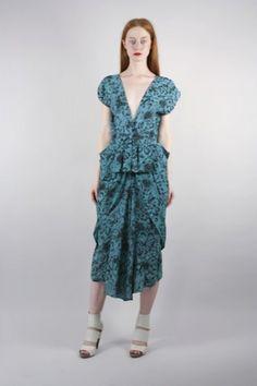 DEVORADO VINTAGE : NORMA KAMALI Floral Dress