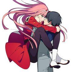Zero two & Hiro 💗 Chica Anime Manga, Otaku Anime, Beautiful Anime Girl, Anime Love, Anime Girls, Anime Shop, Film D'animation, Estilo Anime, Zero Two