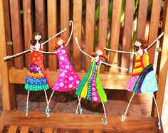 kids each make a wireand clay person we attach to top of wood plank ( shellacked) and attach knobs/hooks for a wall hanging hook board Paper Mache Clay, Paper Mache Crafts, Wire Crafts, Clay Art, Mobiles, Paper Toy, Recycled Art Projects, Shrink Art, Fairy Dolls