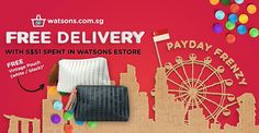 Watsons Singapore National Day FREE Delivery Promotion ends 11 Aug 2016
