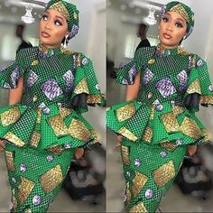 Latest African Fashion Dresses, African Dresses For Women, African Print Fashion, Africa Fashion, African Attire, African Women, Ankara Fashion, African Prints, African Fabric