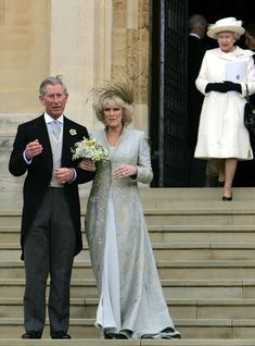 When Prince Charles married Camilla Parker Bowles in it was announced that she would be known as Princess Consort instead of Queen Camilla. Civil Wedding, Wedding Bride, Wedding Ceremony, Wedding Gowns, Celebrity Wedding Photos, Celebrity Weddings, Adele, Windsor, Camilla Duchess Of Cornwall