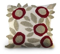 floral #crochet cushion pattern is for sale on Etsy from pattydavis designs