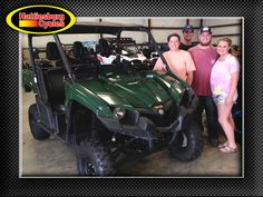 Thanks to Breana Still, Grady Busby, Mason Odom and Lizzy Thompson from Fruitdale AL for getting a 2014 Yamaha Viking at Hattiesburg Cycles