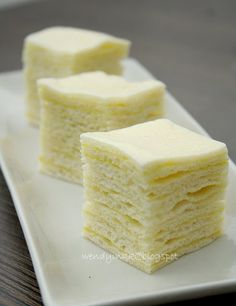 Layered Coconut Cake Malaysian