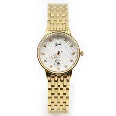 YAKI Trend Analog Quarz Uhren Damen Armbanduhren Markenuhren Damenuhr Kalender Gold FG3896-Y