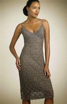 Irish crochet &: Элегантное платье мотивами