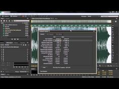 ▶ Adobe Audition CC Tutorial | Using Two Analytical Tools - Amplitude And Frequency - YouTube