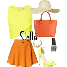 Winx Club Stella inspired outfit.
