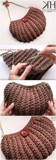 Crochet Shell Stitch Bag