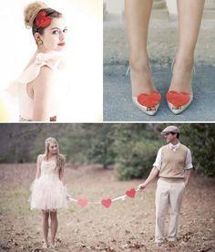 Scarpe da Sposa particolari per matrimonio in San Valentino