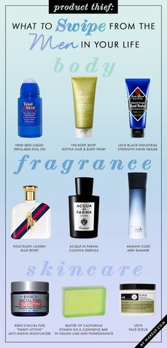 what to steal from the men in your life // the ultimate guide to guy products that girls will love too!