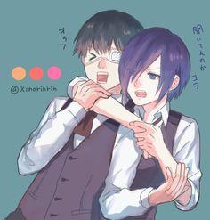 Kaneki and Touka.