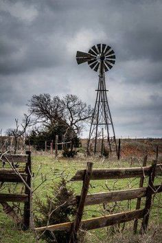 Gray Sky and Windmill