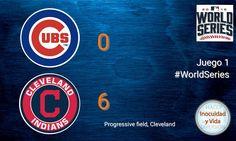 Termina el primer juego se imponen los locales @Cubs 0 @Indians 6 #WorldSeries recuerda que mañana inicia una hora antes