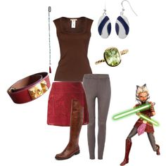 Ahsoka Tano *Star Wars the Clone Wars* by pearl-marley on Polyvore featuring Michael Kors, Hue, Isabel Marant, Croft & Barrow, Hermès and Topshop