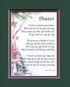 Sister Poem, Sister Gift, Sister Birthday, Sister Present, Best Sister, Gifts For Women, Gifts For Sister, Sister Print, Sister Xmas Gift