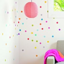 Petit Confetti Fabric Wall Decals for inside closet
