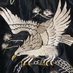 テーラー東洋スカジャン【WHITE EAGLE×WHITE TIGER】リバーシブルサテンスカ NO-832/tt13467-119