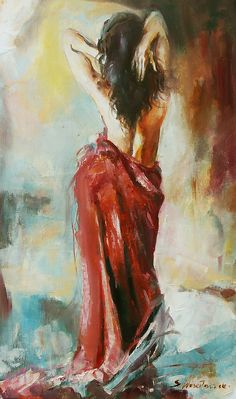 Lady in red Dance Paintings, Indian Art Paintings, Sexy Painting, Figure Painting, Woman Painting, Beauty Art, Portrait Art, Erotic Art, Figurative Art