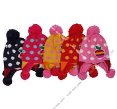 Multicolor Yarn Fluffy Little Apple Hook HuaMao Baby Hats #eozy