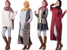 Casual winter hijab looks http://www.justtrendygirls.com/casual-winter-hijab-looks/