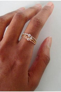 STERLING SILVER RING Wide Hammered Band 3mm /& 4mm Clear Faceted Cubic Zirconia unique ring statement ring women/'s rings jewelry gift for her