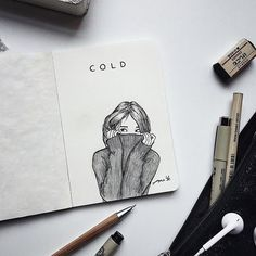 Out there pen art, cool drawings, pencil drawings, art journal inspira Journal D'art, Bullet Journal Art, Art Journal Pages, Cool Art Drawings, Pencil Art Drawings, Art Drawings Sketches, Easy Drawings, Drawing Quotes, Art Quotes