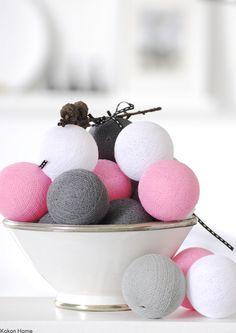Cotton Ball Lights, łańcuch świetlny z 20 kul