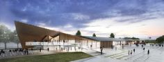 Kengo Kuma & Associates, Holzer Kobler Architekturen · Cosandey Square at EPFL (Ecole Polytechnique Federale de Lausanne)