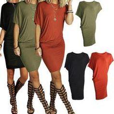 Asymmetric Short Sleeve Pure Color Sexy Bodycon Short Dress. Hippie Chic  VestidosFashion ... c40e1c675
