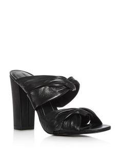KENDALL AND KYLIE KENDALL AND KYLIE DEMY STRAPPY HIGH HEEL SLIDE SANDALS. #kendallandkylie #shoes #