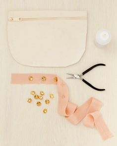 """Tote Bag How-To  For the Tote Cut a length of ribbon long enough to wrap around your purse, allowing an extra 3"""" (1"""" for hem and 1"""" for each end to glue inside opening of purse). Hem your ribbon by folding 1/2"""" down on each end and securing with glue."""