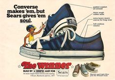 This is an old Converse ad that I scanned from an old Junior Scholastics magazine from 1977.