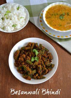 Besanwali Bhindi Sabzi | Okra stir fry with chickpeas flour .... It's vegan, easy and tasty...