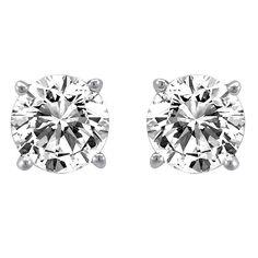0.25 ct Diamond Solitaire Earrings - Hannoush Jewelers - $240.00