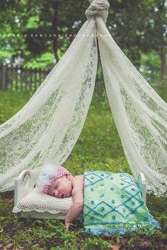 Outdoor Newborn Session - St. Louis Newborn Photographer